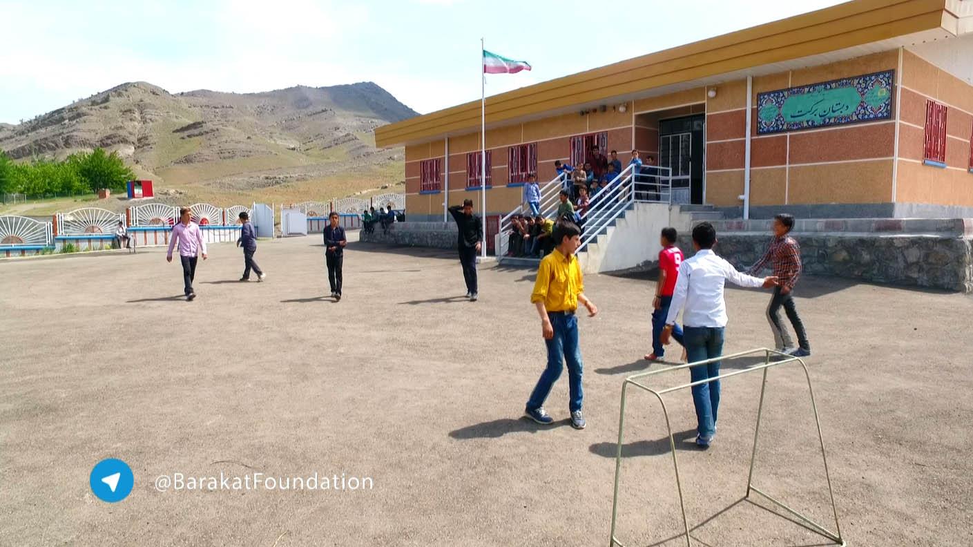 مدرسهی برکت روستای شورستان در گرمی (کلیپ)