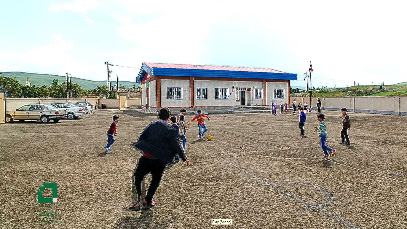 مدرسهی برکت روستای گون پاپاق در بیلهسوار (کلیپ)